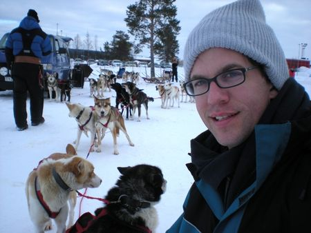 Dan dogsledding in sweden