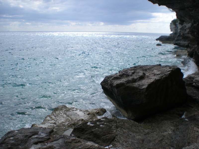 Bahamas stairs ocean